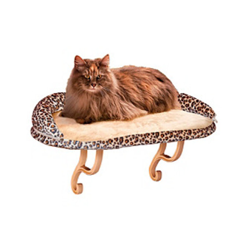 K&H Pet Products Bolstered Leopard Deluxe Kitty Sill