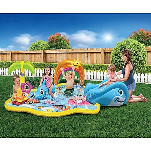 Banzai Splish Splash Inflatable Water Park with Canopy