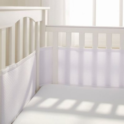 Breathable Baby Deluxe Breathable Mesh Crib Liner in White