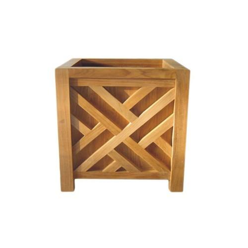 Teak Chippendale Planter Box