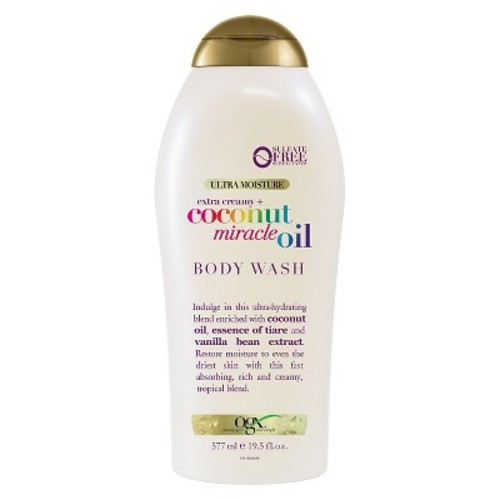 OGX Extra Creamy + Coconut Miracle Oil Body Wash 19.5 fl. oz. Squeeze Bottle
