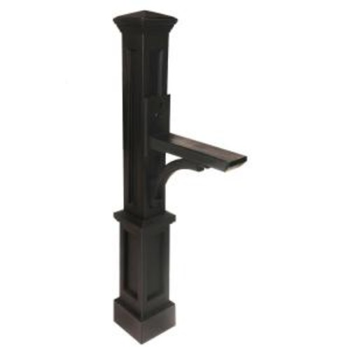 Mayne Newport Plus Plastic Mailbox Post, Black