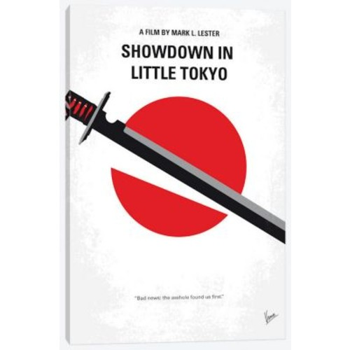 'Showdown in Little Tokyo Minimal Movie Poster' Vintage Advertisement on Wrapped Canvas