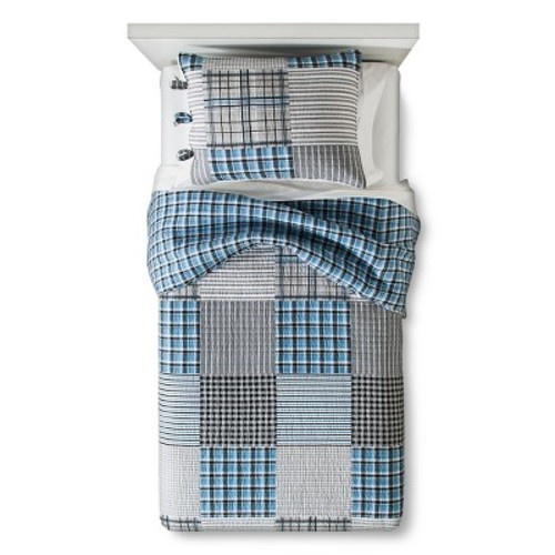 Carter Quilt Set Twin Blue - Sheringham Road
