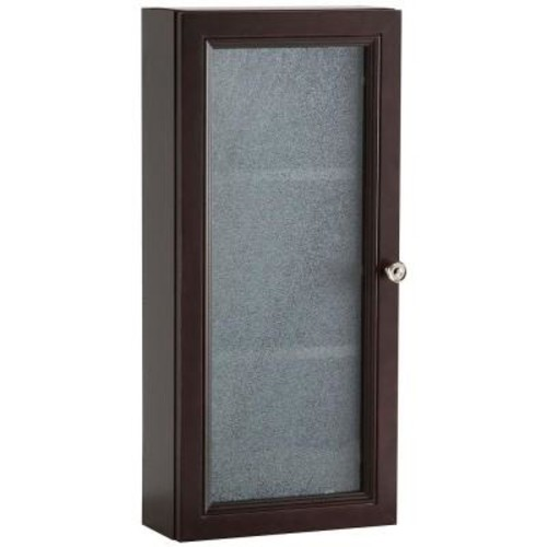 Glacier Bay Delridge 13.5 in. x 29.5 in. Surface-Mount Modular Wall Hutch in Chocolate