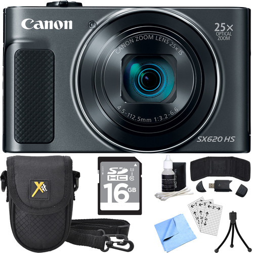 Canon PowerShot SX620 HS 20.2MP Digital Camera Black w/ Essential Accessory Bundle
