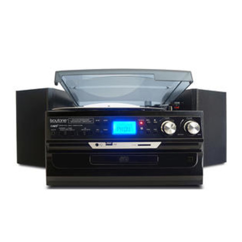 BOYTONE 7 IN 1 TURNTABLE SYSTEM WITH BLUETOOTH BLACK