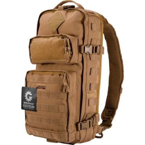 BARSKA Loaded Gear GX-300 Medium 13 in. Dark Earth Ballistic Polyester Tactical Sling Backpack