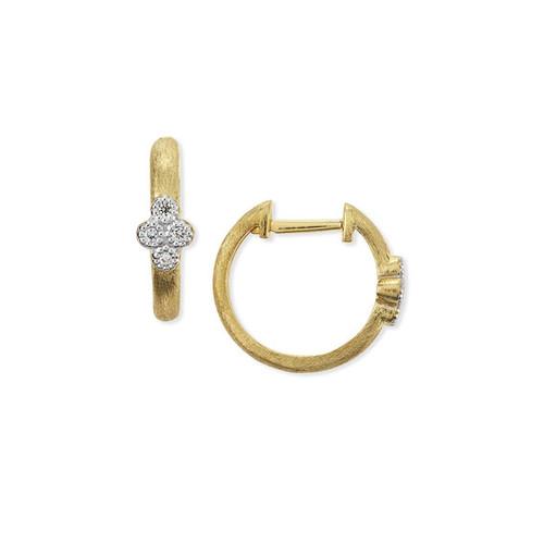Provence Small Diamond Hoop Earrings