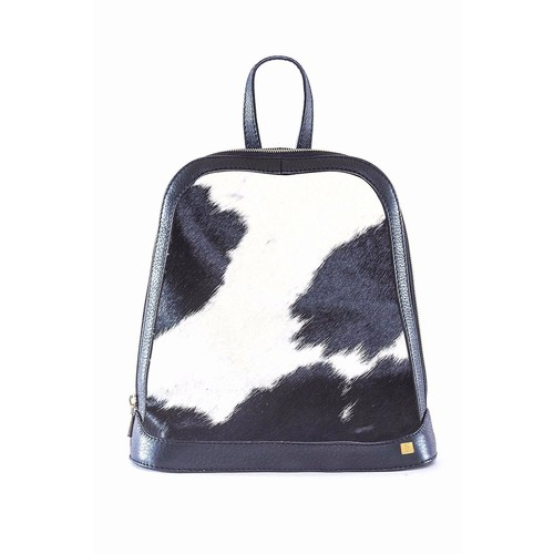 Black and White Fur Backpack