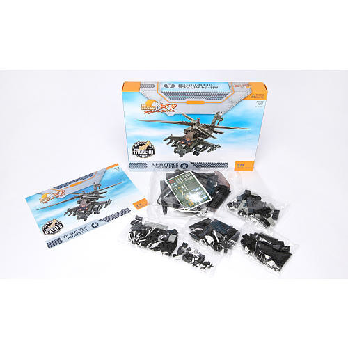 Ultimate Soldier XD XH-64 Attack Helicopter Military Building Construction Set