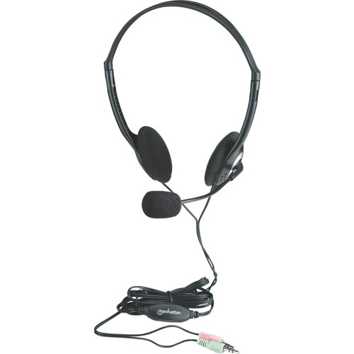 Manhattan Stereo Headset with Microphone and In-Line Volume Control