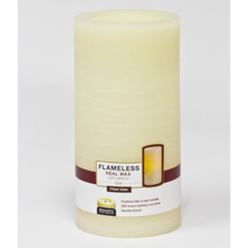 Inglow 4 Inch X 8 Inch Flameless Pillar Candle