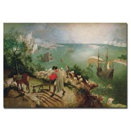 Trademark Fine Art 22 in. x 32 in. Landscape with Fall of Icarus 1555 Canvas Art