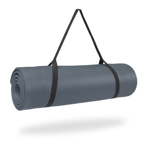Pure Fitness 12mm Deluxe Exercise Fitness Mat - Charcoal