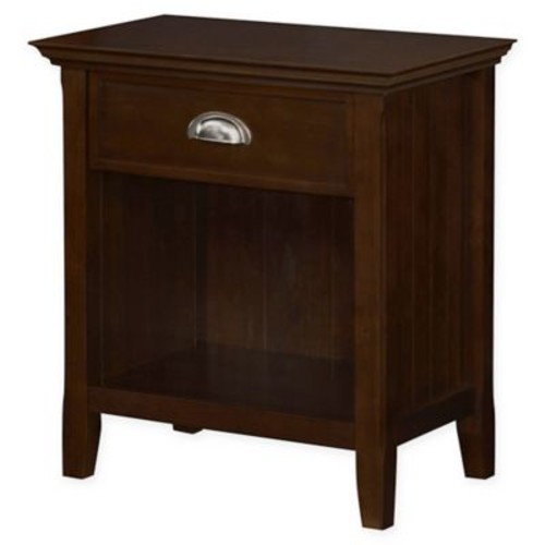 Simpli Home Acadian 24-Inch Bedside Table in Tobacco Brown