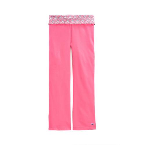 Girls Printed Yoga Pants