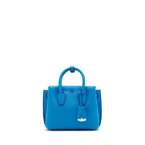 MCM Milla Mini Tote Bag, Tile Blue