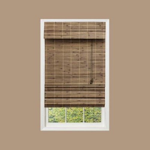 Home Decorators Collection Driftwood Flatweave Bamboo Roman Shade - 67.5 in. W x 72 in. L