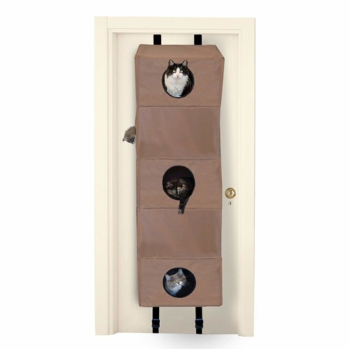 K&H Manufacturing Hangin' Cat Condo Tan [Standard Packaging, Large]
