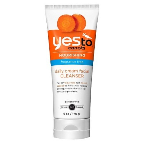 Yes to Carrots Fragrance Free Daily Cream Facial Cleanser - 6 fl oz