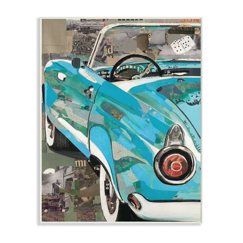 Classic Car Color and Texture Wall Plaque Art