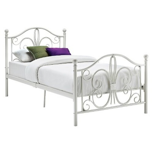 Bombay Metal Bed - Twin - White - Dorel Home Products