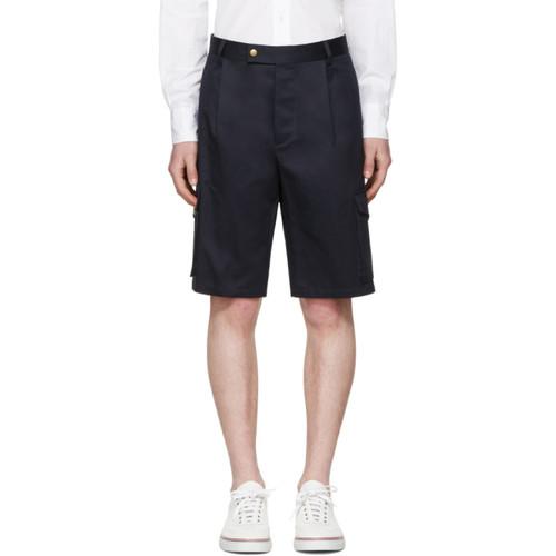MONCLER GAMME BLEU Navy Cargo Shorts