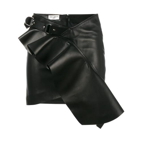 SAINT LAURENT Asymmetric Ruffle Skirt