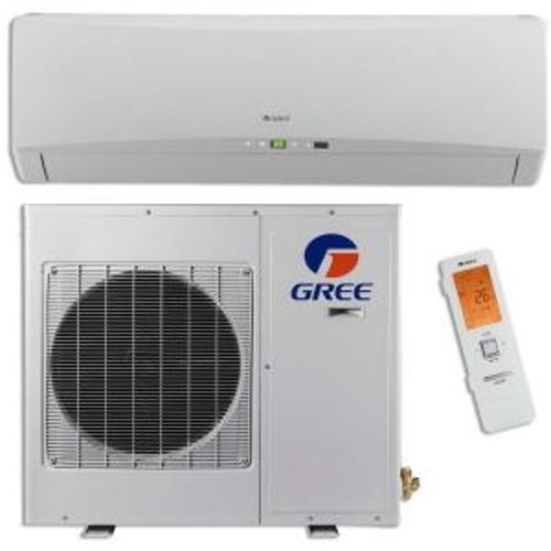 GREE Ultra Efficient 9,000 BTU (3/4 Ton) Ductless (Duct Free) Mini Split Air Conditioner with Inverter, Heat, Remote 208-230V