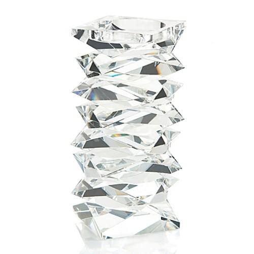 John-Richard Large Stacked Crystal Candleholder