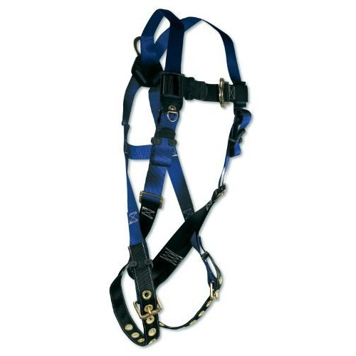 FallTech 70163X Contractor Harness with 1 D-Ring and Tongue Buckle Leg Straps, Triple Extra Large [3X-Large]