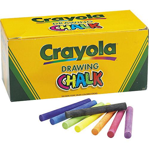 Crayola Colored Drawing Chalk Sticks 144 Ct.