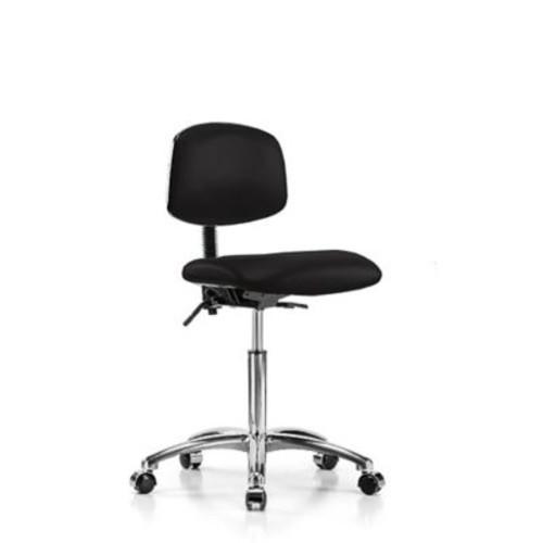 Perch Chairs & Stools Low-Back Desk Chair; Black Vinyl
