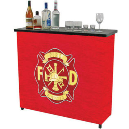 Trademark Global FF8000 Fire Fighter Metal 2 Shelf Portable Bar with Carrying Case