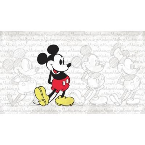 RoomMates 72 in. W x 126 in. H Classic Mickey XL Chair Rail 7-Panel Prepasted Wall Mural
