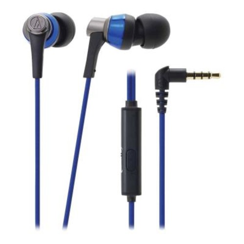 Audio-Technica SonicPro In-Ear Headphones with In-Line Microphone and Control - Blue