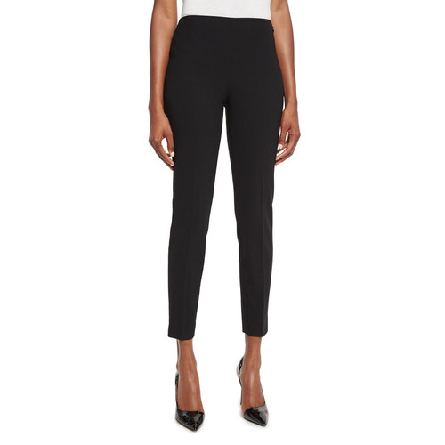 RALPH LAUREN COLLECTION Annie Cropped Wool Crepe Pants, Black