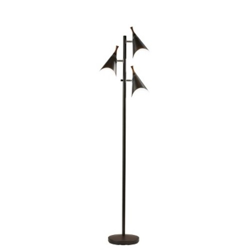 Adesso Draper Tree Lamp - Black