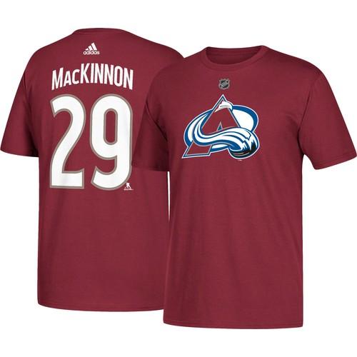 adidas Men's Colorado Avalanche Nathan MacKinnon #29 Maroon T-Shirt