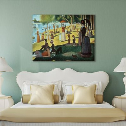 Darby Home Co 'Sunday Afternoon on the Island' by Georges Seurat Painting Print on Wrapped Canvas