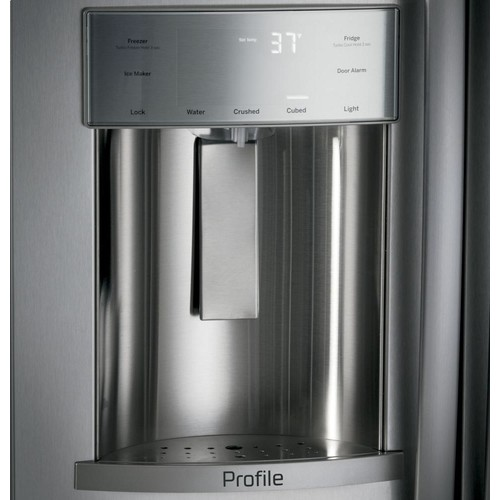 GE Profile 48 in. W 28.7 cu. ft. Built-In Side by Side Refrigerator in Stainless Steel
