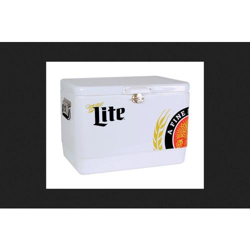Koolatron Miller Lite Ice Chest Cooler 54 qt. White