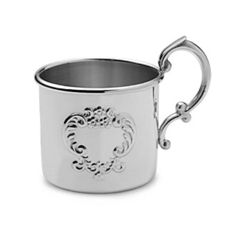 Empire Silver Pewter Raised Design Baby Cup