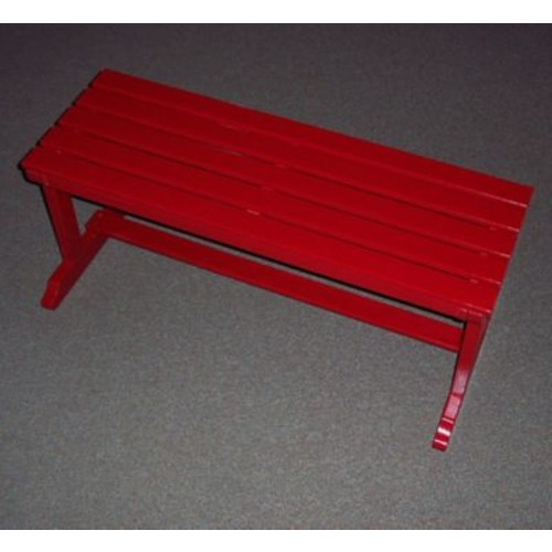 Prairie Leisure Design Backless Wood Picnic Bench; Fire Engine Red