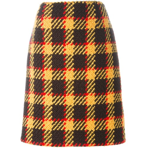 MARC JACOBS Plaid A-Line Skirt