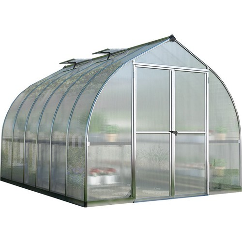Palram Bella Hobby Greenhouse  12ft. x 8ft., Silver Frame, Model# HG5412