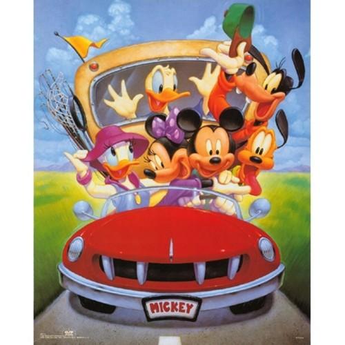''Mickey & Friends: Goin' Fishing'' by Walt Disney Children's Art Art Print (20 x 16 in.)