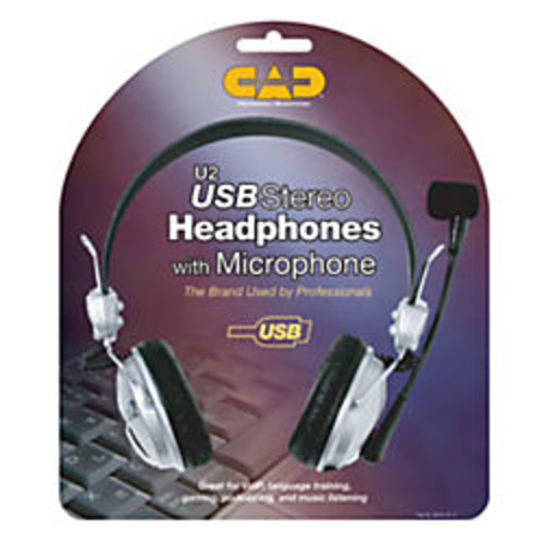 CAD Audio USB Stereo Headphones with Microphone
