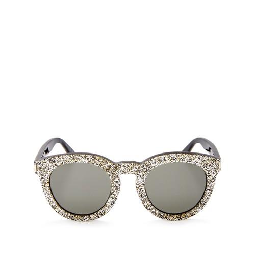 SAINT LAURENT Round Glitter Sunglasses, 45Mm